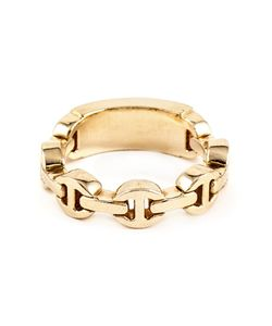 HOORSENBUHS | 18kt Tri-Link Mono Ring From