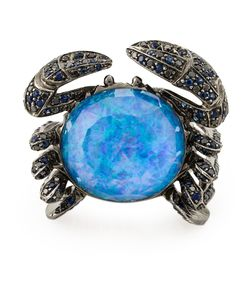 Stephen Webster | 18kt 2038gr Jewels Verne Crab Ring From Featuring Mixed Pave Sapphire 145pc/1