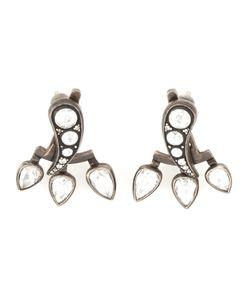 MONAN | 18kt Three Teardrop Diamond Earrings From Featuring A Butterfly Fastening