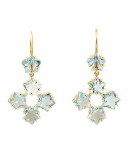 MARIE HELENE DE TAILLAC | 22kt Aquamarine Star Drop Earrings From Featuring A Hook Fastening