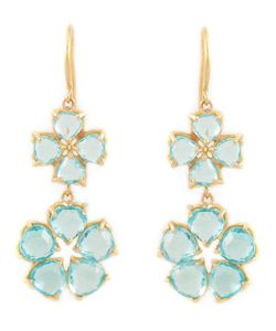 MARIE HELENE DE TAILLAC | 22kt Apatite Drop Flower Earrings
