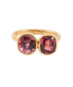 MARIE HELENE DE TAILLAC | Solid Tourmaline Ring From Featuring Two Large Tourmaline Stones