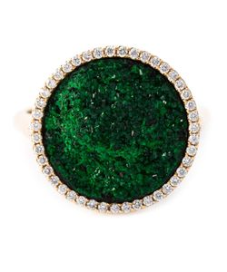 Karolina | Karolin Uvarovite Diamond Round Cocktail Ring