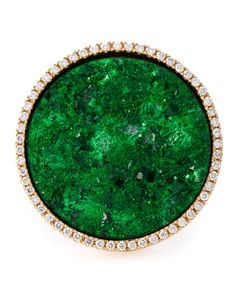 Karolina | 18kt Cocktail Ring From Featuring An Emerald Embellishment And Pave Set Diamons