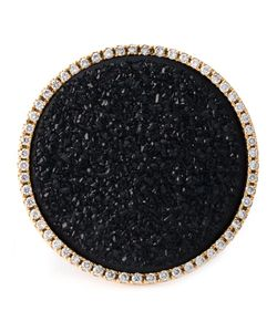 Karolina | 18kt Young Stone Cocktail Ring From Featuring Pave Set Diamonds