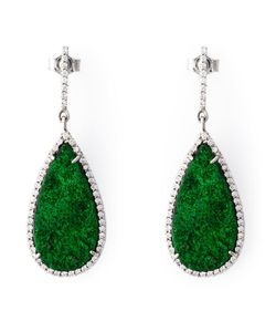 Karolina | And 18kt Drop Earrings From Featuring Pave Set Diamonds And Post Back Closure