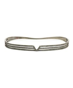 GAYDAMAK | Oxidised Hand Bracelet Inlaid With Diamonds From