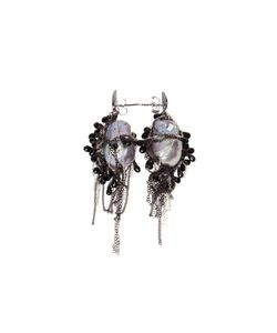 SAMIRA13 | Chain And Pearl Earrings From Featuring A Butterfly Fastening