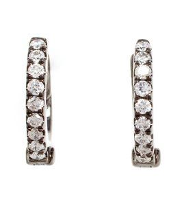 ROSA DE LA CRUZ | Made From 18k Or Oxidised And Studded With Pave Diamonds These Earrings From Are An Elegant Yet Striking Example Of The Designer S Expert Craftsmanship