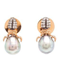 DANIELA VILLEGAS | Diamond Pearl Stud Earrings