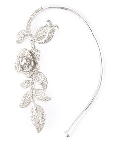 ELISE DRAY | Diamond Flower Ear Cuff From Featuring A Design With Pave Diamonds