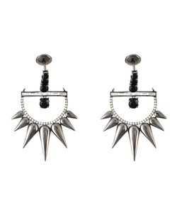 ELISE DRAY | Spiked Earrings From Featuring A Post Back Closure Spinel 2513 Diamonds 12pc/0475ct And Diamonds 62pc/0335ct