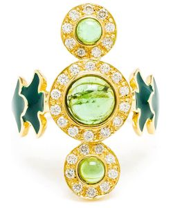 SABINE G | 18kt And Diamond Trinita Verde Ring From