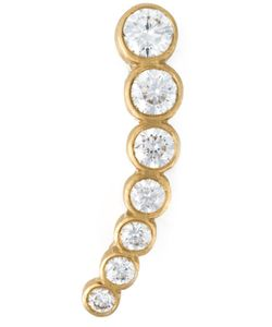 Sophie Bille Brahe   18kt Small Crescent Moon Ear Cuff From Featuring A Hook Fastening And Diamond Embellishment