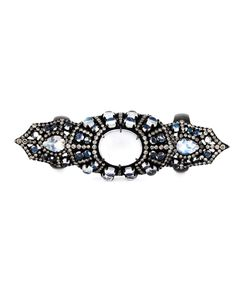 MONAN | Rhodium Large Gothic Style Ring From Featuring A Central Moonstone 1237cts And Diamonds 367cts