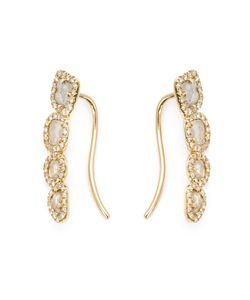 SHYLEE ROSE | 14kt Sliced Diamond Lobe Earrings From Featuring Pave Set Diamonds And A Hook Fastening