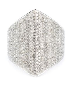 SHYLEE ROSE | 14kt Large Pave Diamond Ring From