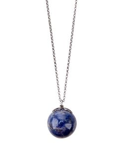 LAURA B | Ball Pendent Necklace From Featuring A Long Thin Chain And A Thicker Cross-Stitch Chain On The Top With A Clasp Fastening