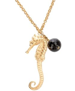 BEX ROX | Tone Metal Pendant From Featuring A Chunky Tone Seahorse And Onyx Charm