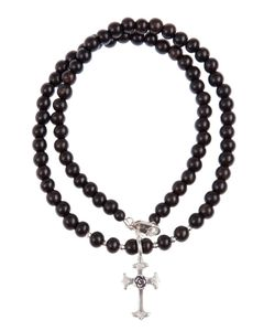 CATHERINE MICHIELS | Crucifix Beaded Necklace From