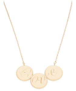CLARICE PRICE THOMAS | 18ct Plated Hallmarked Sterling Necklace From Featuring An Engraved Love Pendant Formed Of Three Joined Cogs And A Lobster Clasp Closure