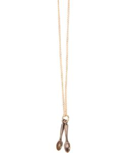 CORNELIA WEBB | -Tone Spoon Me Plated Brass Chain Necklace From Featuring Link Detail Two Antique Effect Spoon Pendants A Designer Embossed Tag To The Back Of Neckline And A Clasp For Fastening