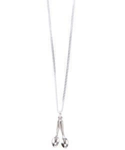 CORNELIA WEBB | Sterling Chain Spoon Me Necklace From Featuring Link Detail Two Spoon Pendants A Designer Embossed Tag To The Back Of Neckline And A Clasp For Fastening
