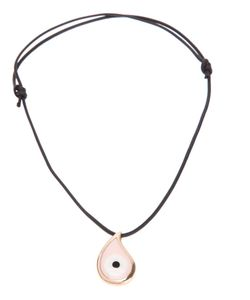 GAVELLO | Leather Necklace From Featuring A Drawstring Fastening And A Contrasting And Bad Eye Pendant In A Set