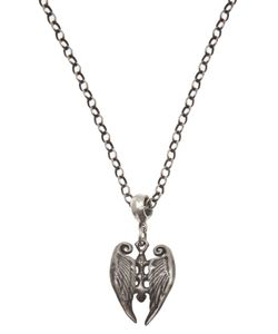 ROMAN PAUL | Sterling Wings With Cross Necklace From Featuring A Center Cross With Wings Pendant Rolo Chain Link And Lobster Claw Closure