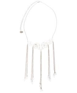 CLIZIA ORNATO | Chain Fringe Necklace From Featuring A Small Link Chain A Rear Lobster Clasp Fastening With A Hanging Logo Charm And An Intricate Section At The Front With Tone Chain Fringing