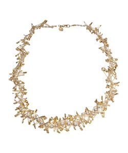 Tom Binns | Necklace From Featuring Tone Safety Pins Graduated Faux Pearls And Lobster Clasp Closure At Back