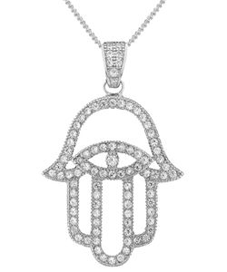 V JEWELLERY | Mythos Hamsa Pendant Necklace