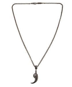 ROMAN PAUL | Sterling Necklace From Featuring Carved Claw With Diamond Accents A Rolo Chain Link And A Lobster Claw Closure
