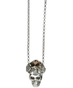 UGO CACCIATORI | Necklace From Featuring A Fine Chain Design A Skull Pendant With A Crystal Embellishment And A Spring-Ring Fastening