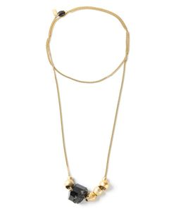 CITRINE, BY THE STONES | Brass Stones Necklace From Featuring A Chain Link Style