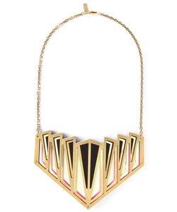 SARAH ANGOLD STUDIO | Limited Edition Necklace From Featuring A Geometric Shape Lasercut Acrylic And Brass Pendant On A Brass Chain Fastening With A Box Clasp