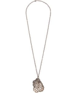 HENSON | Oxidized Netted Necklace From Featuring A Lobster Clasp Closure A Cable Chain And Herkimer Diamonds
