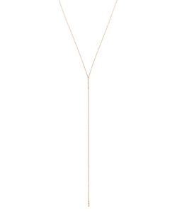 SELIN KENT | 14 Kt Charlotte Lariat Necklace From Featuring An 11 Cm Long Chain And Diamonds Pave Set In Two Bar Pendants