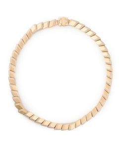 Atelier Swarovski | Plated Brass And Swarovski Crystal Pointiage Link Necklace From Featuring An External Deployant Clasp
