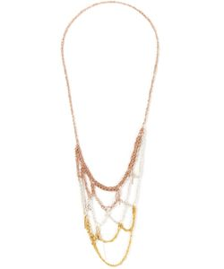 Arielle De Pinto | Sterling Chain Knots Opera Necklace From Featuring 18kt Vermeil And 18kt Vermeil