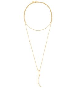 SHAUN LEANE | Vermeil Sterling Knife Edge Long Necklace From Featuring A Lobster Clasp Closure And An Archetypal Modern Classic Signature Tusk Motif For A Sharp Yet Sophisticated Grace