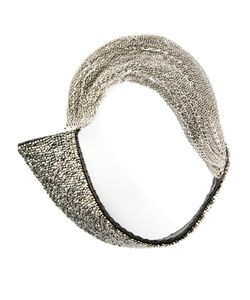 JEAN-FRANCOIS MIMILLA | Leather Collar Necklace From Featuring Stone Embellishments A Strand Design And A Clasp Fastening