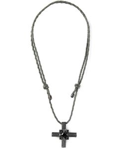 STEFANO TARTINI | Cross Spinel Necklace From Featuring A Cross Pendant With Spinel Diamond Accents And An Adjustable Cord