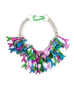 Andrea Crews   Multicoloured Eiffel Tower Charm Necklace From
