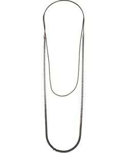 ONE OAK BY SARA | Gunmetal Brass Claire Chain Necklace From