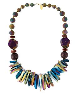 KATERINA PSOMA | Multicoloured Mixed Stone Beaded Necklace From
