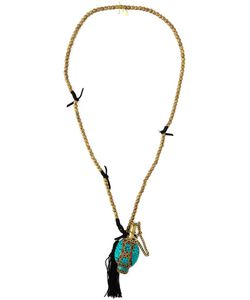 KATERINA PSOMA | -Toned Metal Mosaic Pendant Necklace From