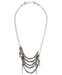 Arielle De Pinto | Sterling And Palladium Strands Chain Necklace From