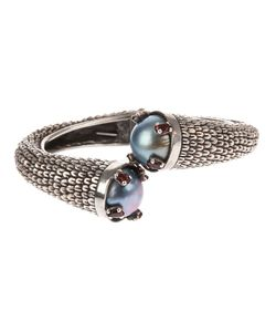 UGO CACCIATORI | And Pearl Embossed Twisted Ring From