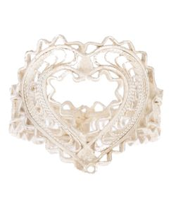 CLIZIA ORNATO | Filigree Cac Ring From Featuring A Heart Shaped Front With Scalloped Trim